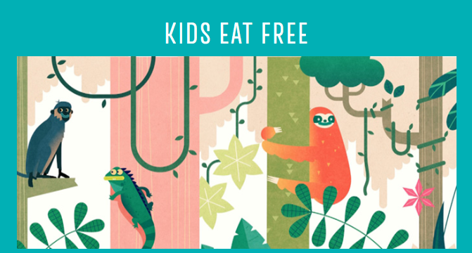 Kids Eat for £1 or free Las Iguanas