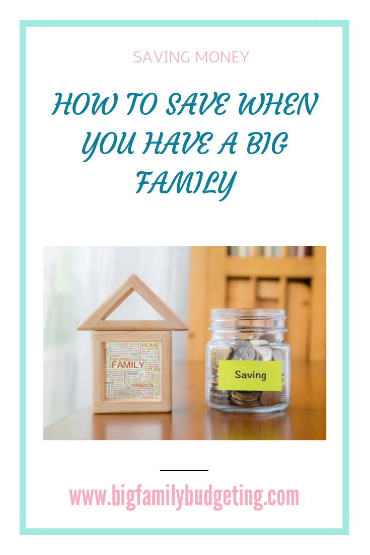 A large family will cost more than only having two children, but there are lots of ways you can save money and ensure your money lasts longer, click through to find out more ways to save money when you have a large family