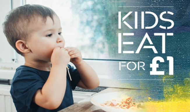 Kids Eat for £1 or free Prezzo Restaurants